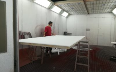 Professional paint booth maintenance
